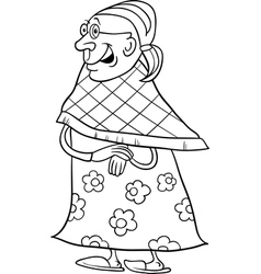 Senior grandmother coloring book vector
