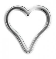 Silver heart vector