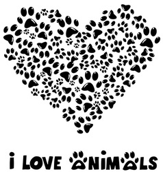 I love animals card vector