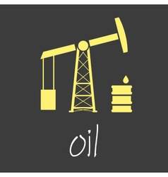Oil production theme symbols simple banner eps10 vector