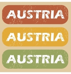 Vintage austria stamp set vector