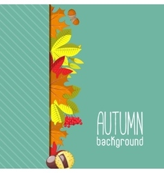 Autumn background for invitation or ad template vector
