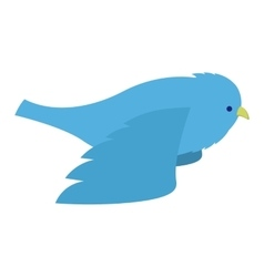 Flying blue bird vector