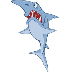 Cute shark cartoon character vector