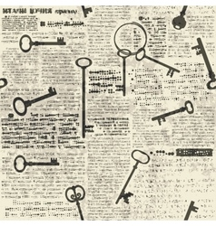 Imitation of newspaper with keys vector