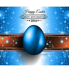 Happy easter background with a colorful egg with vector