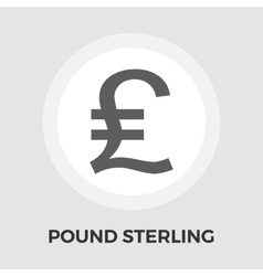 Pound sterling flat icon vector