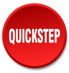 Quickstep red round flat isolated push button vector