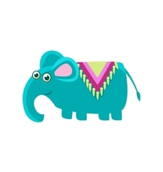 Elephant wearng a horse cover vector