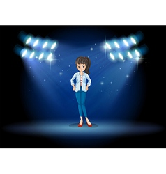 A girl at the stage vector image vector image