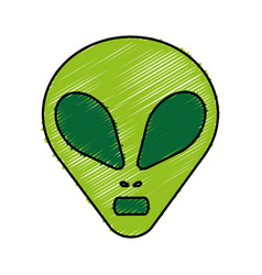 Alien icon image vector