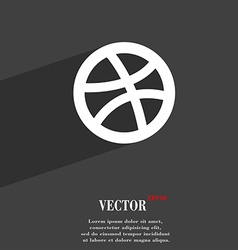 Basketball icon symbol Flat modern web design with vector image