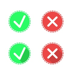 Check mark icons on white background vector image