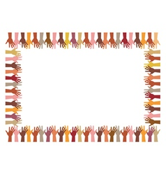 colorful frame up hands vector image