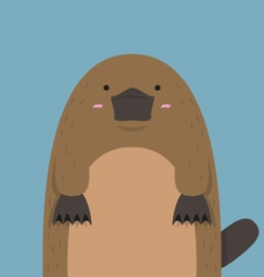 Cute big fat platypus vector