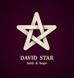 David star symbol design template vector image vector image