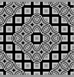 Design seamless monochrome geometrical pattern vector