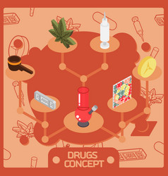 drugs color isometric concept vector image