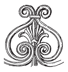 Etruscan ornament provides evidence for the vector
