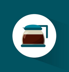 glass pot coffee maker vector image