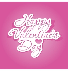 Happy Valentines Day lettering vector image vector image