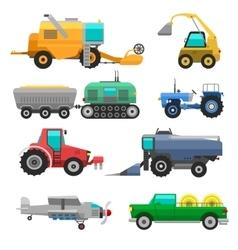 Harvester machine vehicle vector image vector image
