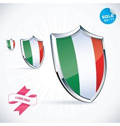 I Love Italy Flag vector image