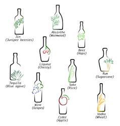 Icons spirits vector