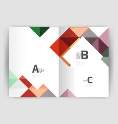 Modern minimalistic geometrical square business vector