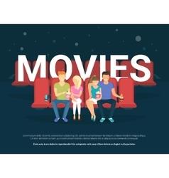 Movies concept vector