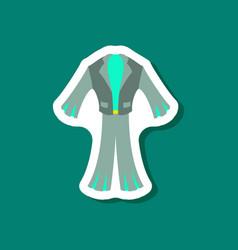 Paper sticker fashion clothes men suit vector