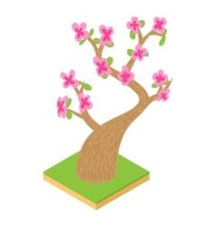 Sakura icon cartoon style vector image