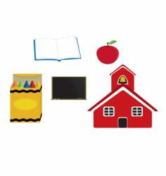 school items vector image vector image