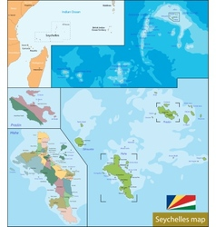 Seychelles map vector