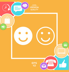smile icon happy face symbol for your web site vector image