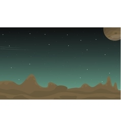 Space landscape with stars collection vector