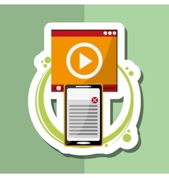 technology design computer icon gadget concept vector image