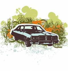 Vintage car retro illustration vector