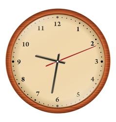 wooden wall clock vector image vector image