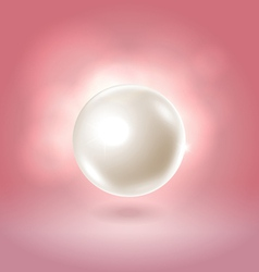 White glowing gorgeous pearl ball vector