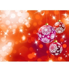 Orange bokeh of christmas lights with ball eps 8 vector