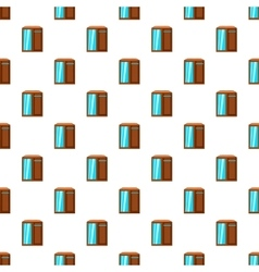 Wardrobe pattern cartoon style vector