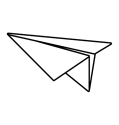 Paper plane model air outline vector