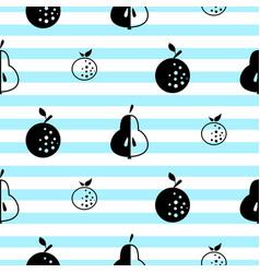 Scandinavian style fruit seamless vactor pattern vector