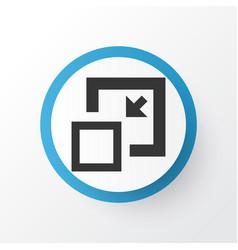 Minimize icon symbol premium quality isolated vector
