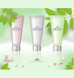 Cosmetic tube packaging vector