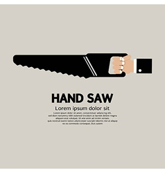 Hand saw vector