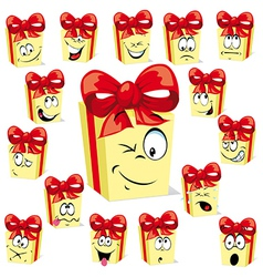 Gift cartoon vector