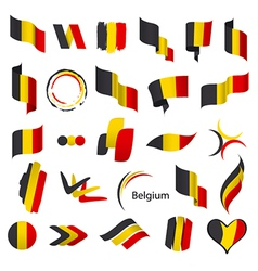 Biggest collection of flags of belgium vector