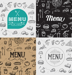 Restaurant cafe menu template design vector